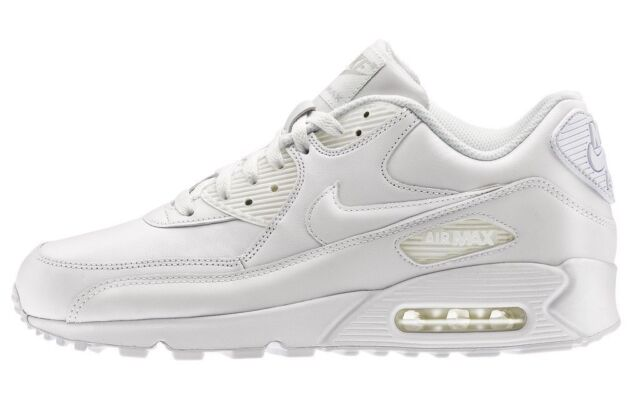 best website 418be 7f507 Nike Scarpe Bambini Air Max 90 Leather Grade School -bianco ...