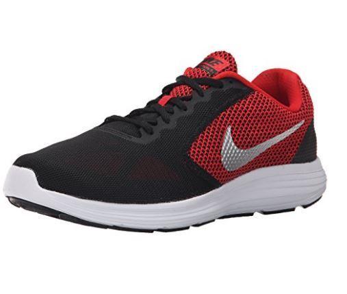 Nike rivoluzione 3 (ampia) di scarpe da corsa rosso / argento nero 819301 600
