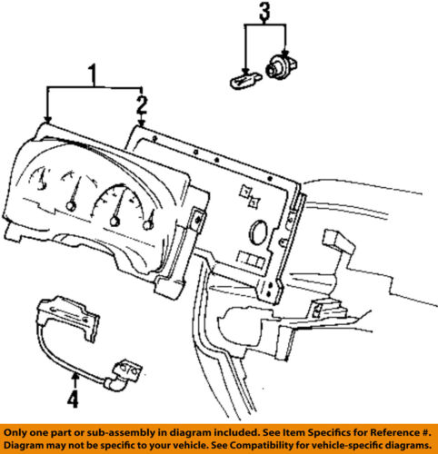FORD OEM Dash Cluster Switch-Shift Indicator YF2Z7A110AA