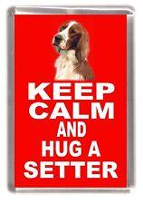 "Irish Red & White Setter Fridge Magnet ""KEEP CALM AND HUG A SETTER"" by Starprint"