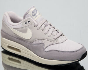 b9013b43 Nike Air Max 1 Men's New Vast Grey Sail Casual Lifestyle Sneakers ...