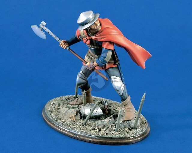 Verlinden 120mm (1 16) English Foot Soldier with Axe in Battle of Agincourt 1313