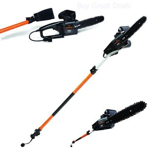 echo tree trimmer electric tree trimmer pole chain saw pruner remington 15 3518