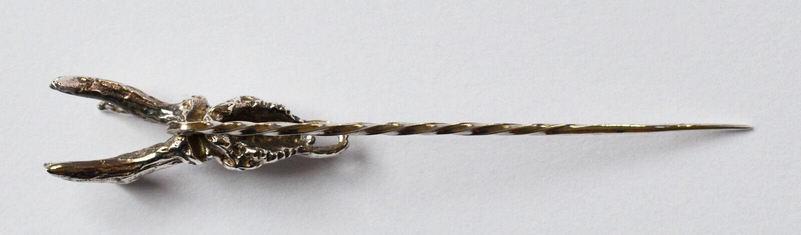 Cravatte Cravatte Cravatte ago Spilla argentoo 800 cranio Hirsch per lavoro manuale 1900 cm 6 fdc6df