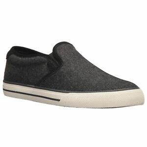 1f1dd895ca Details about Ralph Lauren Vaughn Slip-On II Charcoal Mens Flannel Slip-on  Sneakers Trainers