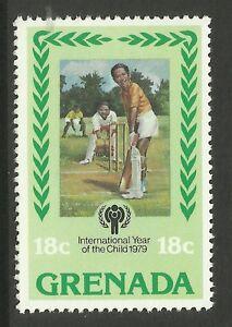GRENADA-1979-International-Year-of-Child-SINGLE-CRICKET-Value-only-MNH