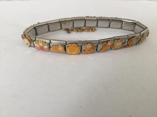 18 Garfield Licensed Casa D/'oro Italian 9mm Charm Charms Bracelet NEW