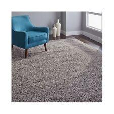 Light Gray Shag Rug 8 x 10 thick heavy rectangle grey area carpet Safavieh Athen