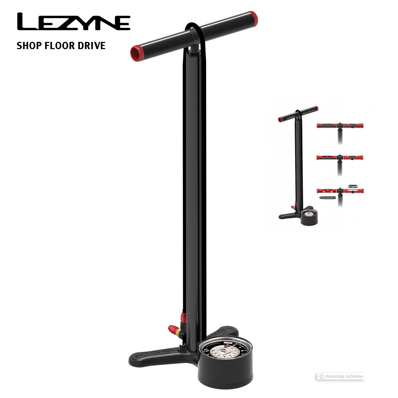 Nuevo 2019 Unidad De Pie Lezyne Shop CNC Aleación Bicicleta Bomba de pie con herramientas de reparación