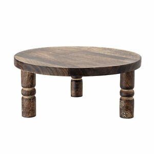 Bloomingville-Pedestal-Tray-round-Wood-34-cm-on-Feet-Serving-Tray-Deco
