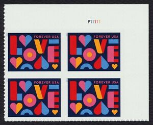 #5543 Amor 2021 , Placa Bloque [P11111 Ur ] Nuevo Cualquier 5=