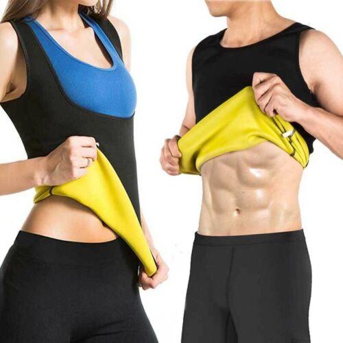 Men Neoprene Vest Cami Hot Shaper Gym Women Sauna Sweat Thermal Tank Girdle Cami