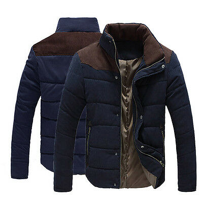 Hot Men's Slim Fit Winter Warm Thermal Wadded Jacket Cotton-padded Coat Outwear