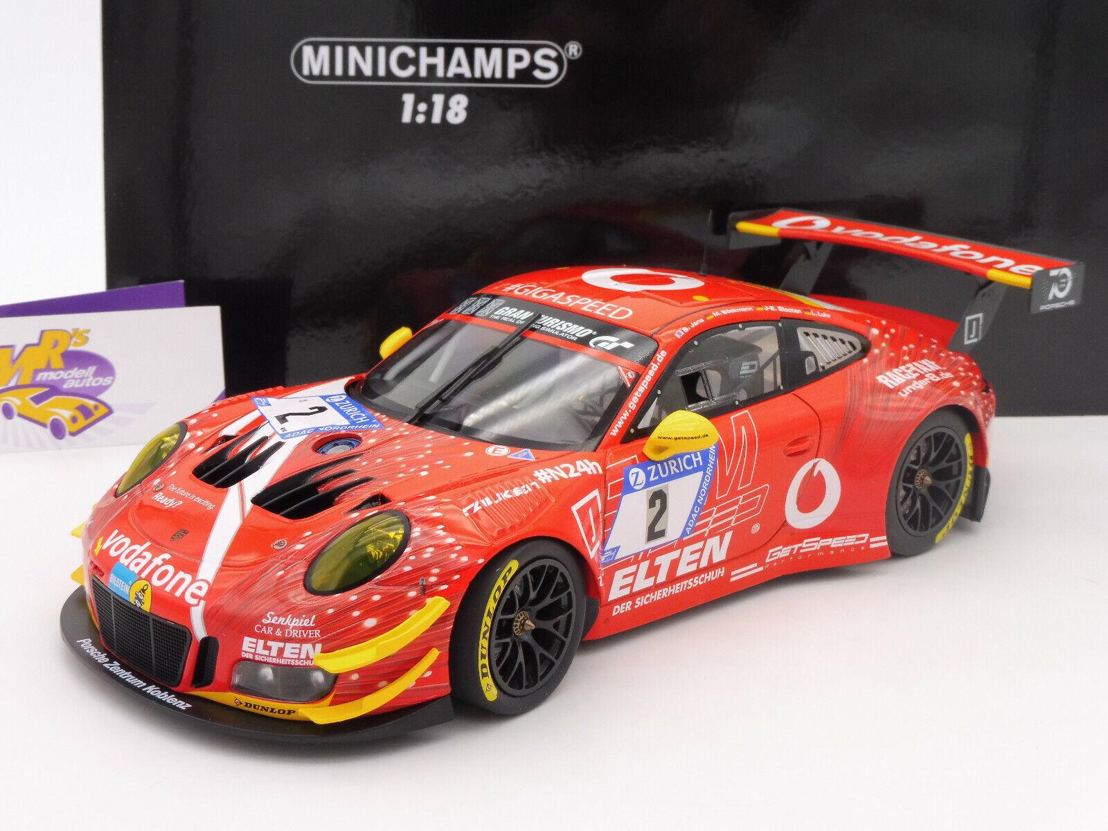 Minichamps 155186902   PORSCHE 911 GT3 R  ELTEN  24h. Nürburgring 2018 1 18