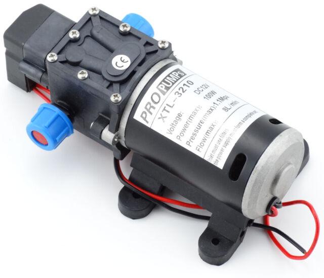 12V DC 160Psi High Pressure Diaphragm Self Priming Water Pump 8Lpm 100W for Wash