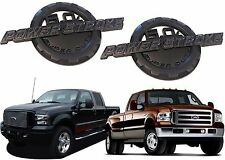 PAIR Black 6.0 Powerstroke Emblems 6.7 Style For Ford F250 F350 New Free Ship
