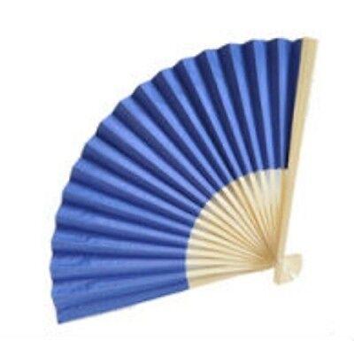 NAVY BLUE Paper Fan Beach Wedding Fans Favors