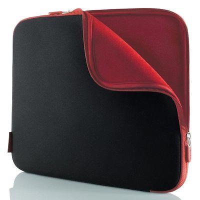 "Belkin Notebook Sleeve Custodia Protettiva In Neoprene 10.2 ""jet Black/rosso Cabernet- Pacchetto Elegante E Robusto"
