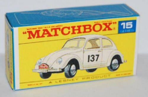 Matchbox Lesney Product No 15 Volkswagen 1500 Empty Repro Box style F