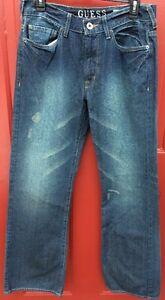 taille Entrejambe 29 Cliff Sz coton 32 Entre Jeans Cut 100 Boot vieilli Guess qawxAUg
