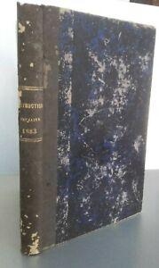 Boletin-DE-Instrucciones-Francaise-Todos-Las-Meses-Tomo-3-Meuse-Ac-Nancy-1883