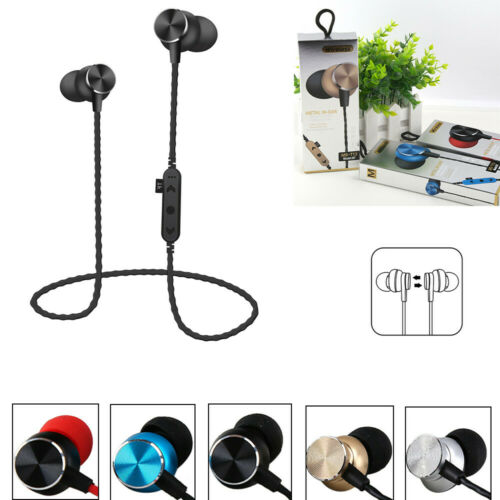 Bluetooth Headphones Sweatproof Wireless In Ear Earbuds With TF SD Card Slot US