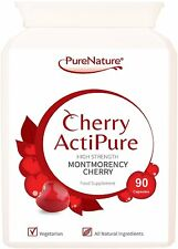 90 PURE MONTMORENCY CHERRY ACTIPURE Active 50% Higher Strength 750mg per Capsule