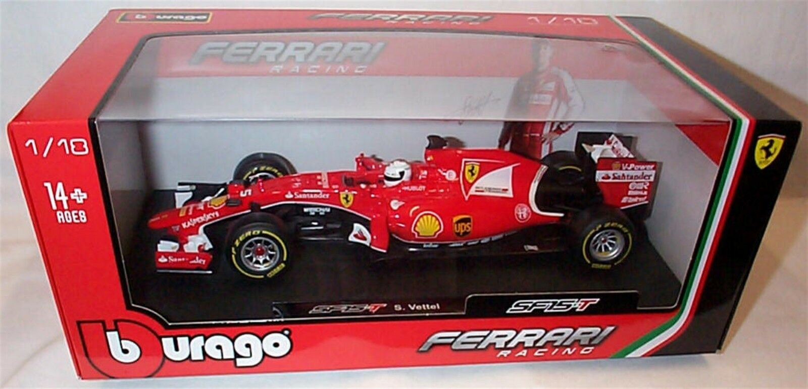 suministro de productos de calidad SF15-T SF15-T SF15-T S. Vettel Ferrari Racing F1 Nuevo En Caja Escala 1-18  están haciendo actividades de descuento