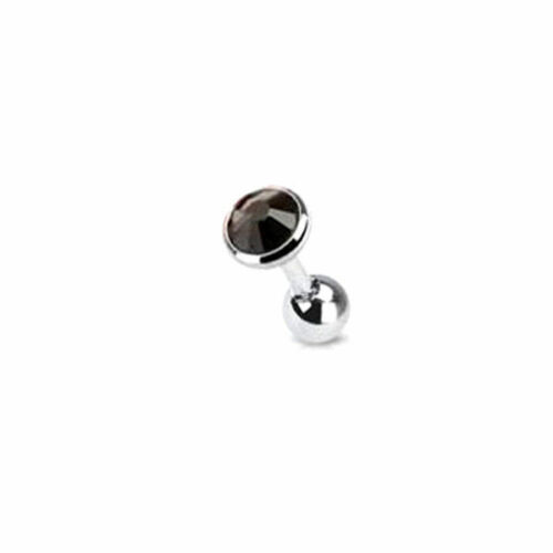 2X 3//4//5mm Gem Ball Bar Barbell Ear Cartilage Tragus Helix Stud Earring Piercing