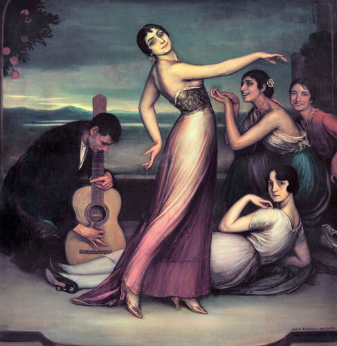 Flamenco songs and dances Julio Romero de Torres Spanien Tanz Musik B A3 02737