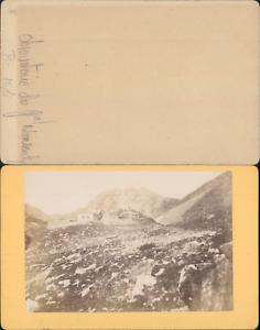 France-Pyrenees-observatoire-du-general-de-Nansouty-Vintage-CDV-albumen-carte