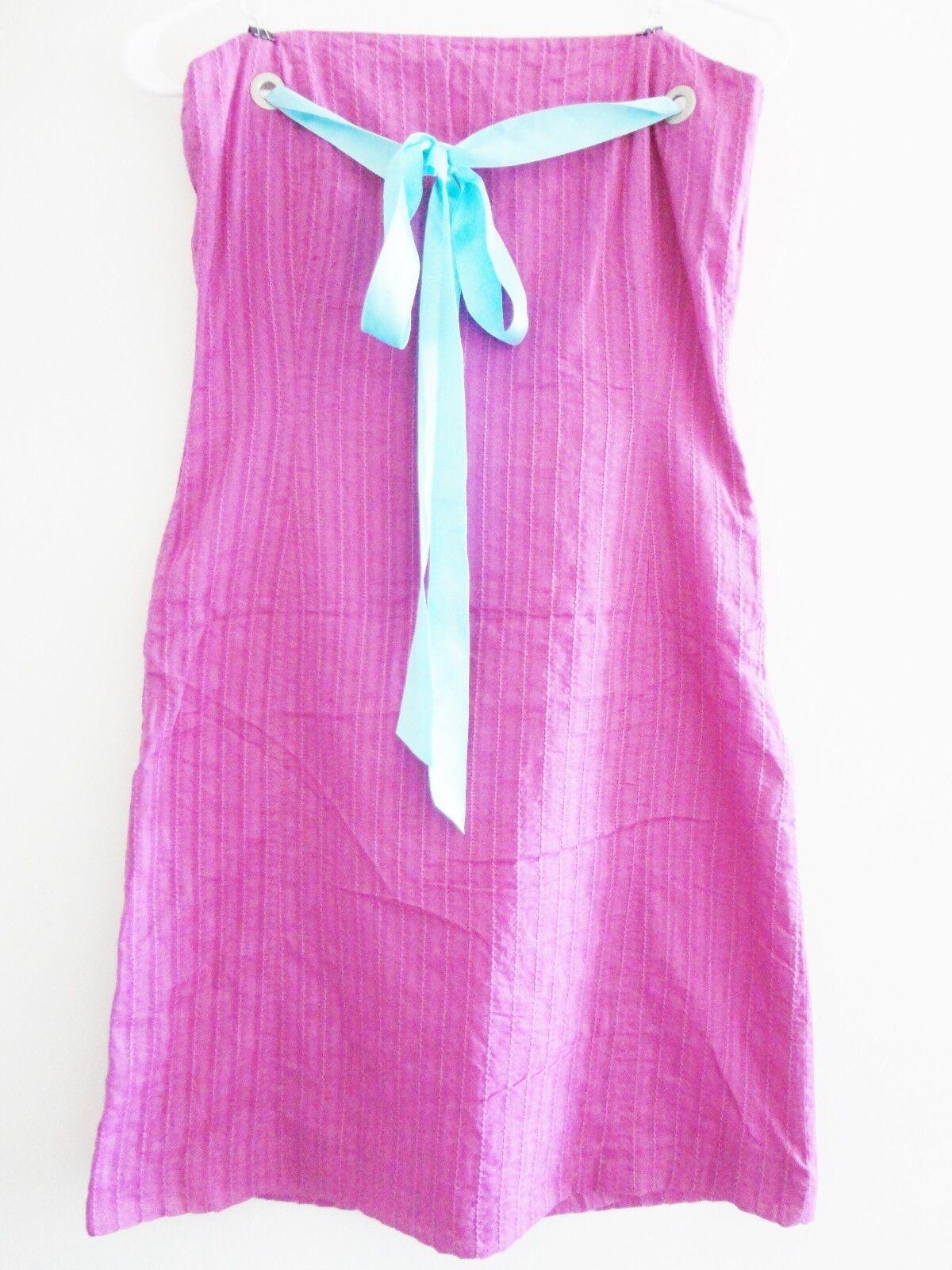 NEW PORTS PINK blueE SHOULDER DESIGNER DRESS LIMITED EDITION 100% AUTHENTIC