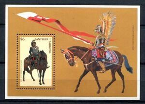 Modeste Barbuda 1998 Cavalier Cheval Cavalerie Horse Bloc 298 Cachet Neuf Sans Charnière-afficher Le Titre D'origine