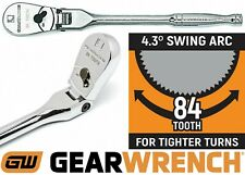 84T GearWrench 81012F 1//4-Inch Drive Full Polish Flex Head Ratchet