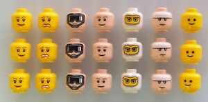 LEGO-Heads-Lot-of-21-Brand-New-Lego-minifigure-heads
