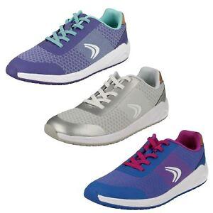 Schuhe Für Mädchen Stetig Girls Clarks Frisby Fun Casual Trainers Die Nieren NäHren Und Rheuma Lindern Kleidung & Accessoires
