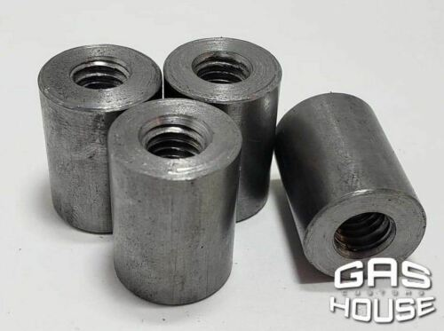 Gas House Threaded Steel Bungs 1 inch long 3//8-16 thread 4 pack