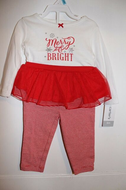 7ce3344c1 Carter s Christmas Merry   Bright Tutu Outfit Set 2pc Baby Girl 6 ...
