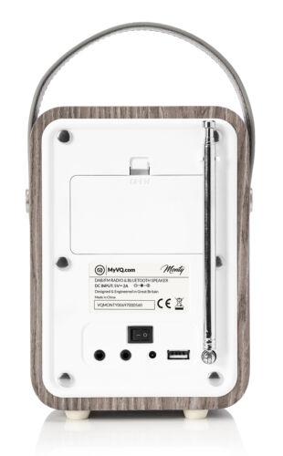 Monty by VQ Radio Bluetooth Speaker /& USB Charger AM//FM HD Radio Real Wood Case