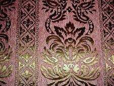 Polsterstoff Möbelstoff Stoff Barock Antik Neu Jaquard Chenille Webstoff Rosa