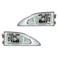 Fits 94-98 Mustang Cobra Driver + Passenger Side Headlight Lamp Assembly 1 Pair