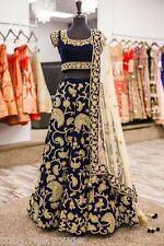 ACTUAL PICS LISTED-Indian Elegant Blue Bollywood PARTY Lehenga Lehnga Lengha