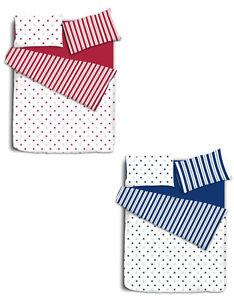 Reversible-Estrellas-Y-Rayas-cubierta-de-edredon-y-funda-de-almohada-de-lecho-individuales-dobles