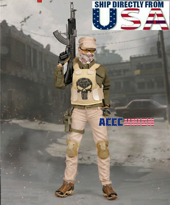 """1//6 Tactical Camouflage Combat Clothing Set B For 12/"""" PHICEN Hot Toys Figure USA"""