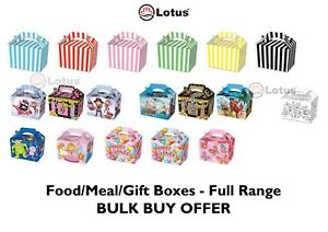 Details About Children Kid Color Birthday Wedding Party Meal Lunch Food Gift Loot Bag Box New