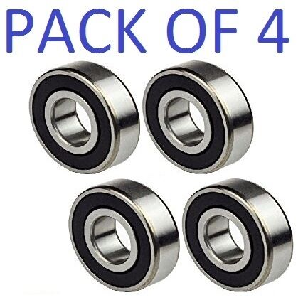 6200-2RS Ball Bearing Dual Sided Rubber Sealed Deep Groove 10x30x9 4PCS
