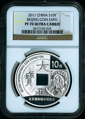 Asia Adroit 2011 Beijing Coin Expo Silver 1 Oz S10y Coin Ngc Graded Pf70 Ultra Cameo Rare Online Shop Coins & Paper Money