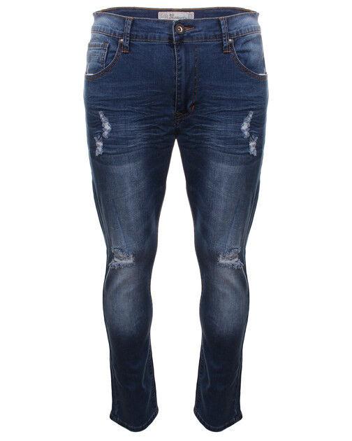 CROSSHATCH Denim Slim Fit Fit Slim Rip Jeans bleu taille 34 W 34 L DH084 CC 14 c3e436
