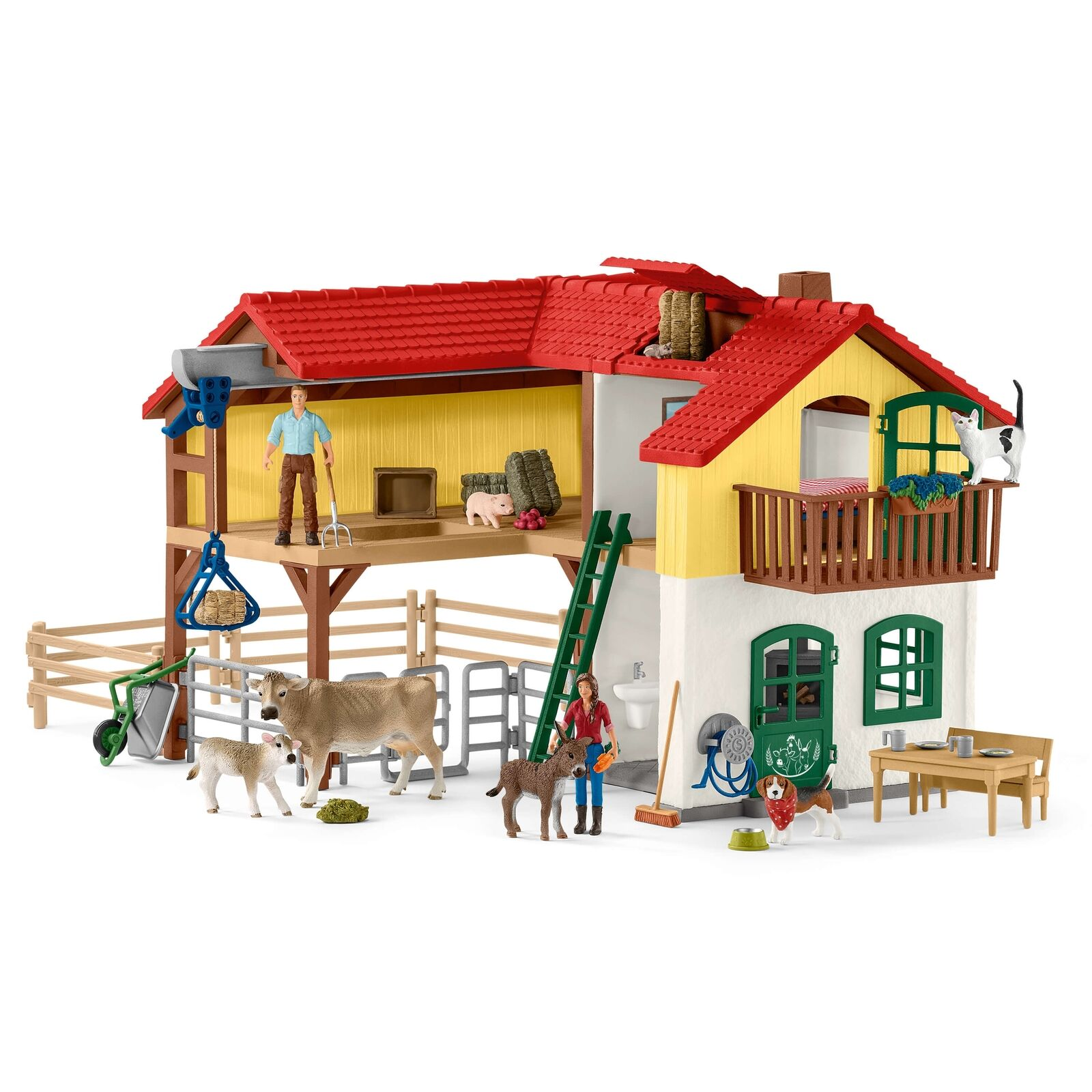 Schleich 42407 - Large Farm House med accessoarer - Farm värld New