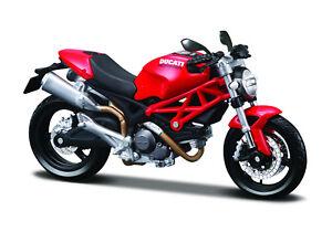 Ducati-Monster-696-rot-Massstab-1-12-Motorrad-Modell-von-maisto